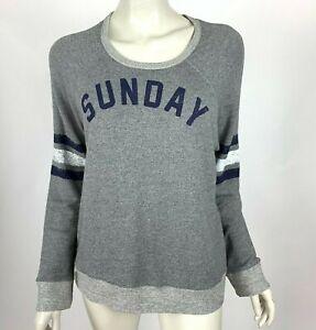 Anthropologie Sundry Sweatshirt Long Sleeve Scoop Neck Pullover Gray Women 4 XL