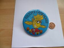 Fultons Crabhouse Downtown Disney Button - Badge Pin