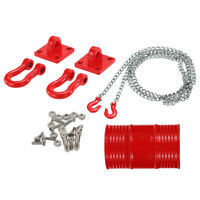 RC Crawler 1:10 Tow Hook & Trailer Chain w/ Oil Drum for Axial SCX10 RC4WD