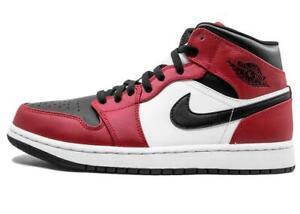 Nike Air Jordan 1 Mid Chicago Black Toe Gym Red White 554724-069 Sz 5 5.5 8.5 9