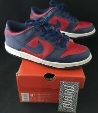 reputable site a8f46 044e8 VTG 2002 NIKE DUNK LOW REVERSE SHARKS BLUE RED SB LODEN FLASH RARE LIMITED  8.5