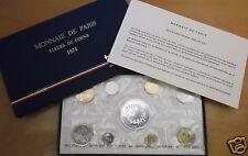 France 1974 Coffret Fleur de Coin (9 Pieces), avec 50 Francs ARGENT