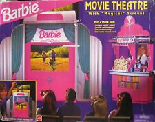 "Barbie Movie Theater With ""Magical"" Screen! Plus Snack Bar! Playset NEW SEALED"
