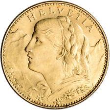 Swiss Gold 10 Francs (.0933 oz) - Helvetia - XF/AU - Random Date