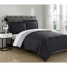 KING Size 3pc Bedding Set Comforter Bed in a Bag Grey Charcoal Modern Room Decor