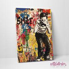 Mr Brainwash SMILE Stampa Fine Art su tela Canvas Street Vintage Arredo