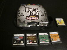 NINTENDO DS - GUITAR HERO ON TOUR +BRAIN AGE+POKER+DEAL NO DEAL+SMACK DOWN VS RA