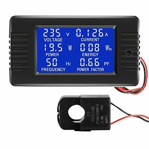 AC Multimeter 100A Current Voltage Energy Frequency Power Factor Split Core CT