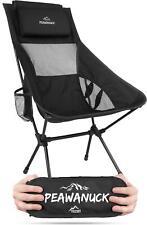 Ultraleichter 995g! Campingstuhl mit Langer Rückenlehne und Kissen Outdoorstuhl