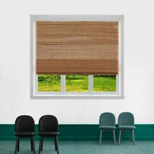 TJ GLOBAL Cordless Bamboo Roman Window Blind Sun Shade, Light Filtering...