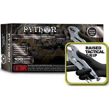 PYTHON Black Nitrile Gloves, 7 mil, Powder Free, Case of 1000, Size XL X-Large