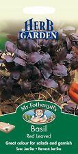 Mr Fothergills - Pictorial Packet - Herb - Basil Red Leaved - 300 Seeds