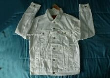 $100 New LEVIS TRUCKER JACKET Denim Small All-Whit jean hipster jean pure S