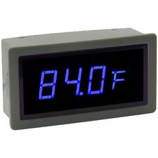 Blue LED Temperature Display Internal & External Sensor