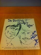 "THE CORCORAN BROTHERS ""LIVE"" - RARE PRIVATE FOLK AUTOGRAPHED LP ~Vinyl VG++"