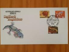 Australian Stamps First Day Cover 16Jun 1982 Reptiles & Amphibians Freepost Aust