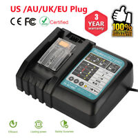 DC18RC Fast Lithium-Ion Battery Charger For Makita BL1830/1840/1850/BL Battery S