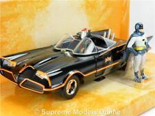 BATMOBILE BATMAN MODEL CAR 1:24 SCALE CLASSIC TV SERIES BLACK JADA + FIGURES K8