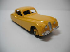 VINTAGE MECANNO DINKY TOYS #157 JAGUAR XK 120  YELLOW, RESTORED TO NEAR MINT B