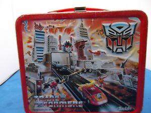 Vintage  Aladdin Transformers lunch box 1986