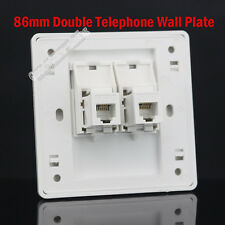 New!! Wall Plate Double RJ11 TEL Jack Modular Panel Faceplate Outle RJ11
