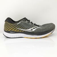 Saucony Mens Guide 13 S20548-45 Black Gray Running Shoes Lace Up Low Top Sz 9.5