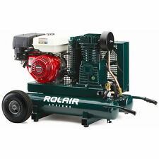 Rolair 9-HP 9-Gallon Gas Two-Stage Wheelbarrow Air Compressor w/ Honda Engine