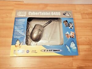 """NEW ADESSO CYBERTABLET 6400 6"""" X 4.5"""" GRAPHICS WITH 2 BUTTONS PEN WIRELESS MOUSE"""