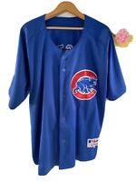 Majestic AUTHENTIC Starlin Castro Chicago Cubs MLB  AWAY Jersey BLUE SIZE 50