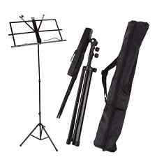 Adjustable Folding Sheet Music Stand Score Holder Mount Tripod Carrying Gig Bag