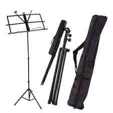 Adjustable Folding Sheet Music Stand Score Holder Mount Tripod Carrying Gig Bag