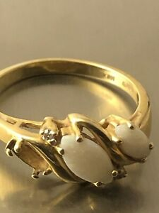 SCRAP! 10k gold opal s7 ring JL 070521@