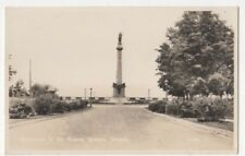 Monument To The Braves Quebec Canada Vintage RPPC Postcard US113