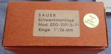 Original JP SAUER & SOHN riflescope mount SSG 2000 80 90 92 eaw GERMAN colt ring