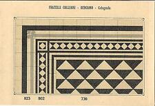 Stampa antica PAVIMENTO A MOSAICO Piastrelle Mattonelle C 736 1910 Antique print