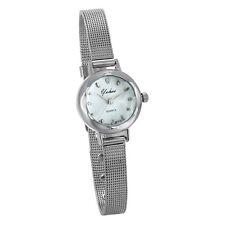Women's Ladies Simple Elegant Slim Mesh Band Bracelet Analog Quartz Wrist Watch