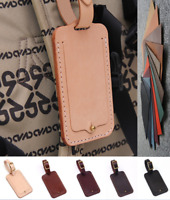 travel luggage handbag baggage suitcase ID holder tag cow Leather Customize A842