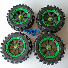 Giant grip wheel tire tyre + wheel nut adapter for Traxxas X-maxx green