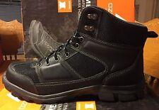 Hiking Boots New Men's Ozark Trails Mid Black Leather US Sz 8.5 (B118)