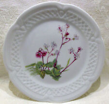"Louis Lourioux Porcelaine France Wild Flower Canape Plate 5 3/4"" #2"