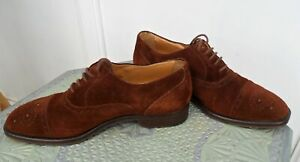 Fabulous Hand Made Italian Brown Suede Shoes By 'Inferno 8' Men's Size 42