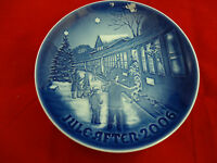 "2006 B&G Bing & Grondahl Christmas Plate "" Welcoming guests for Christmas """