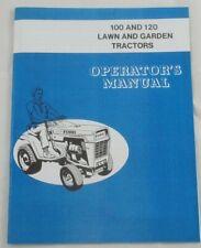 Ford 100 Amp 120 Lawn Amp Garden Tractor Operators Owners Manual Lgt100 Lgt120 Lgt