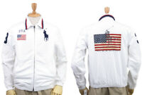 *Flawed Polo Ralph Lauren USA Full Zip Jacket Flag Big Pony Size L Large HW7589