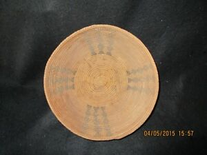 Single rod Coiled basket of Great Basin make,  Probably of Paiute make.