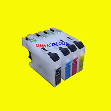 4 empty compatible refillable cartridge no chip for Brother LC 223 233 225 227