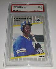 6552176bd8 1989 Fleer #548 Ken Griffey Jr Rookie Card RC Graded PSA 9 Mint HOF