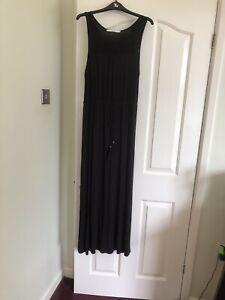 Ladies Black Maxi Dress. Size12