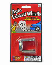 2 Pack AUTO EXHAUST WHISTLES Car Pipe Joke Loud Sound Prank Trick Set Muffler