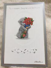 Hija y hijo en derecho me to You Tatty Teddy auténtica tarjeta de Navidad 99p